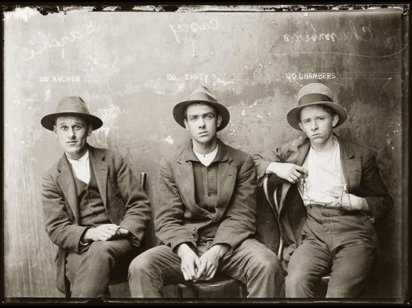 NSW gangsters mug shots in jail in the 1920's