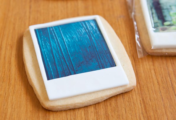 photograph printed on cookie