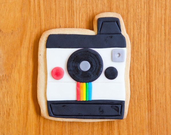Photograph of Polaroid cookie